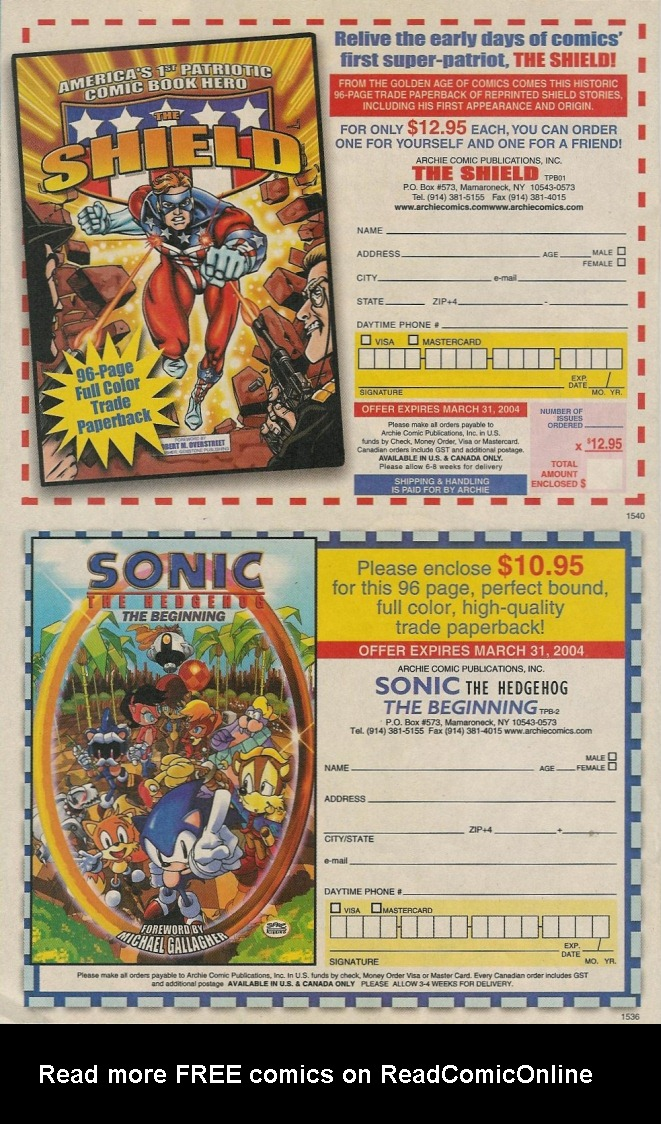Read online Sonic The Hedgehog comic -  Issue #131 - 23