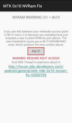 FIX IT MTK 0x10 NVRam Fix
