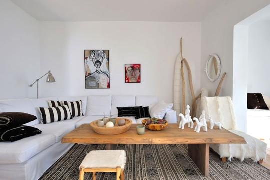 Noir blanc un style for Amenager un petit salon rectangulaire