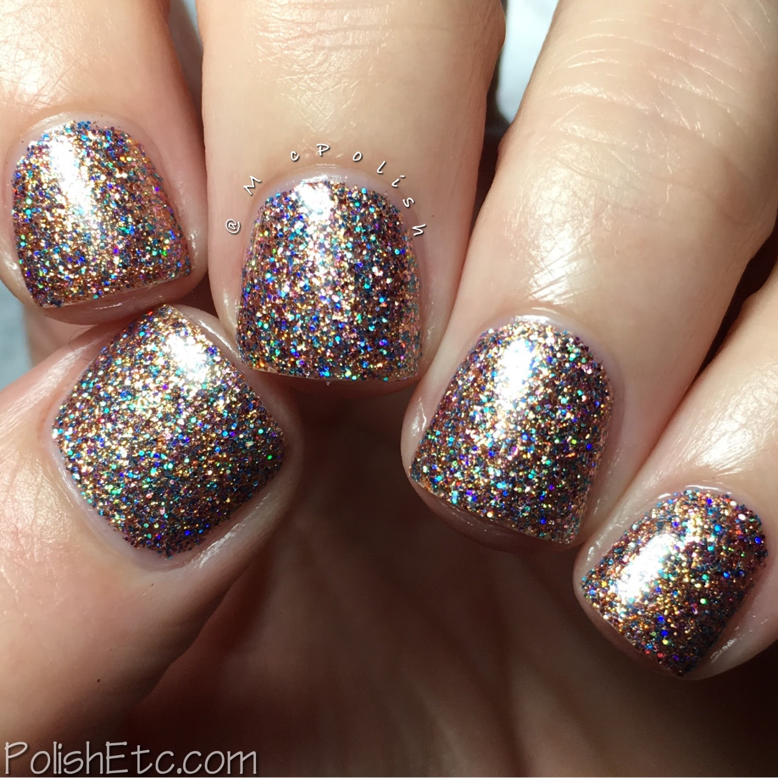 Indies Outside the Box: Fan-tastic Customs - McPolish - Glittertini by Top Shelf Lacquer
