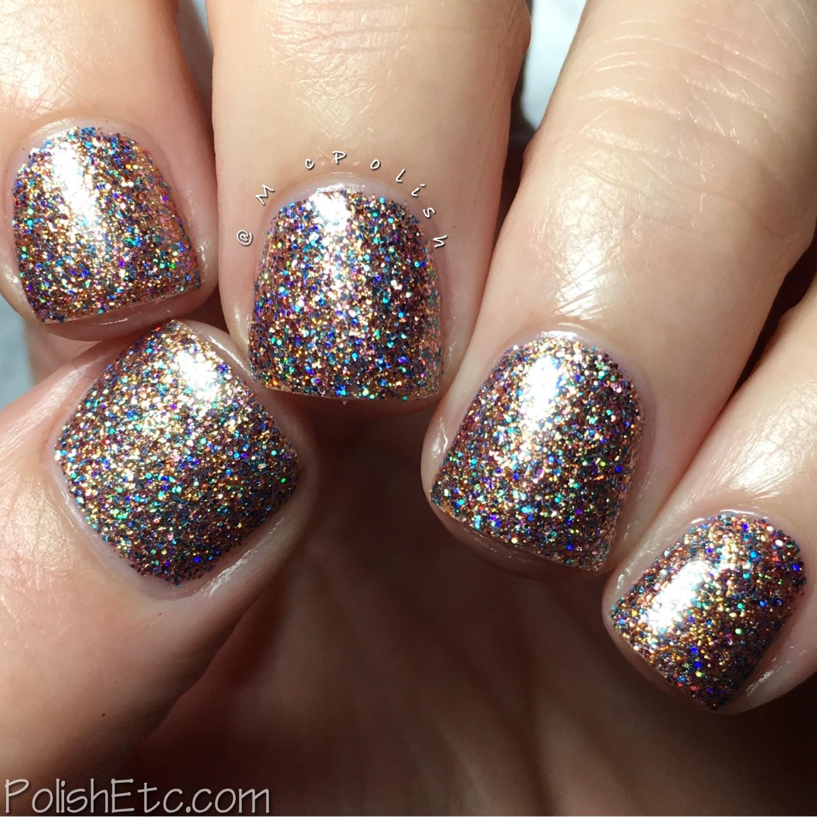 Indies Outside the Box: Fan-tastic Customs - McPolish - Glittertini by Top Shelf Lacquer