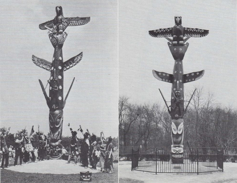 the history of totem poles Therefore, totem poles simultaneously were symbolic representations of family history, mythology, and heraldic columns that represented a family, sort of like how european families used family .