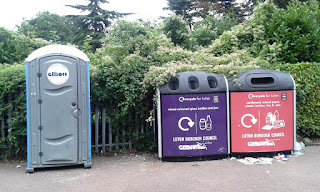 Photo of a portaloo in Luton