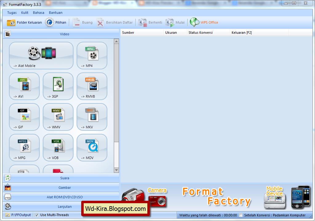 wd-kira, Cara Convert File Dengan Format Factory Keluaran Terbaru 2014, Download aplikasi convert gratis, unduh software format factory terbaru 2014, merubah format file, cara merubah format video, cara mengatasi video yang tidak bisa dibuka pada android terbaru 2014