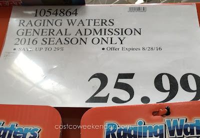 Deal for a single day adult admission to Raging Waters at Costco