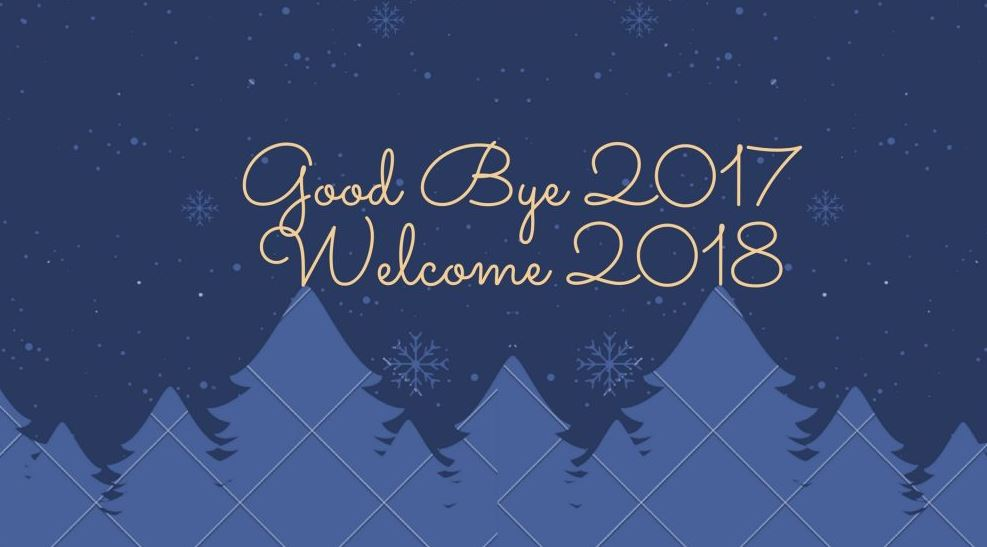 good bye 2017 welcome 2018 image
