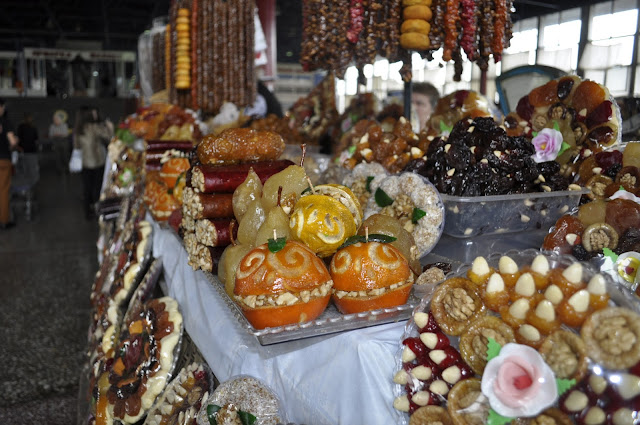 Visiting Armenia and the best sites to see Candied fruit at local market