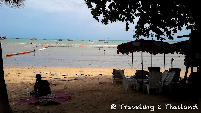 Sitting at the beach of Pattaya, Thailand