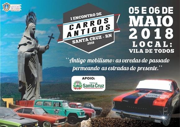 Santa Cruz sediará o 1º Encontro de Carros Antigos neste final de semana