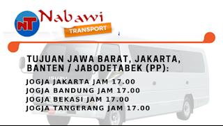Jadwal Travel Jogja Jakarta