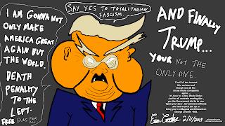 Trump go f**k yourself cartoon satirists against trump political satire
