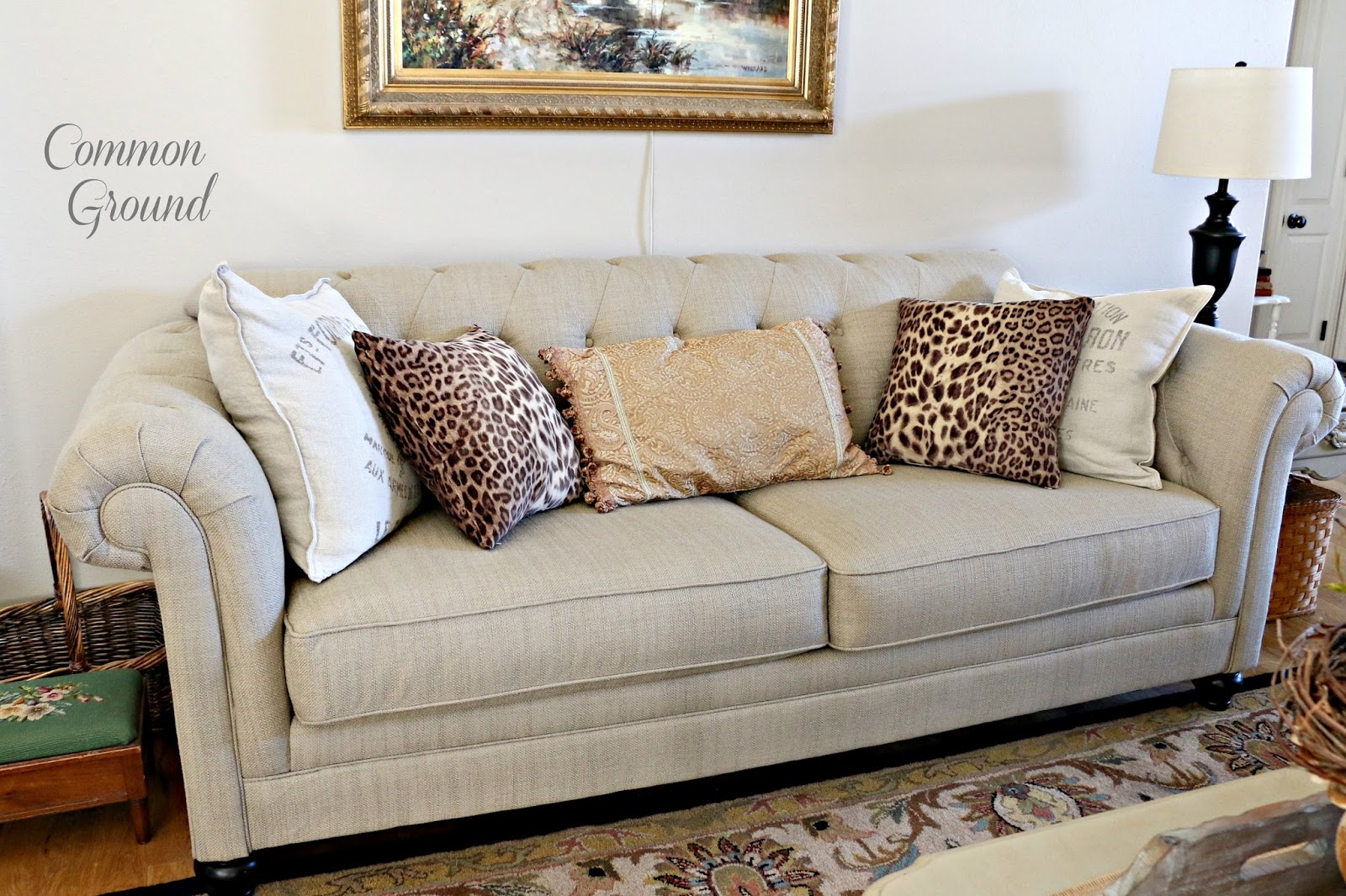 Leopard Print Sofa Appears Villa Paprika Common Ground The Living Room And Pillows