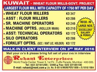 Recruitment to wheat flour mills in Kuwait