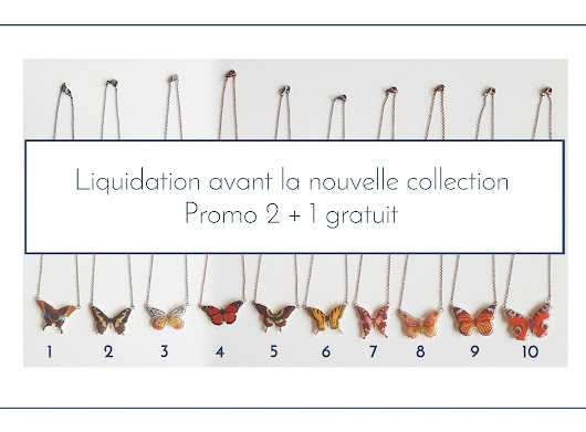 Promotion : Ancienne Collection de Colliers Papillons