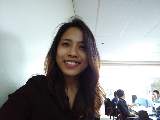Sample shot using the 8-megapixel selfie camera