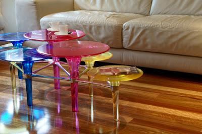 Mesa para el café de acrílico