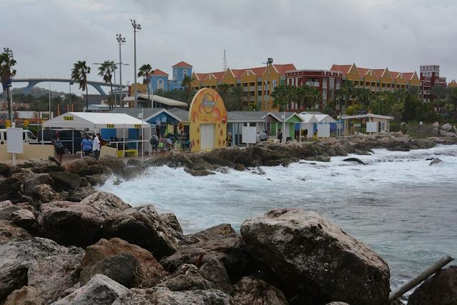 Willemstad Curacao rough sea