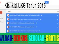 Kisi-kisi UKG Tahun 2015