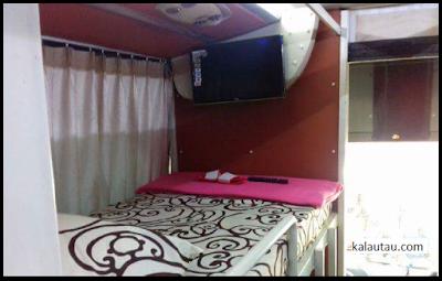 kalautau.com - bus mewah dengan fasilitas Nonton TV