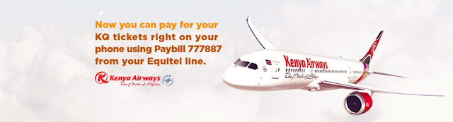How To Pay For Your KQ (Kenya Airways) Ticket Using Equitel