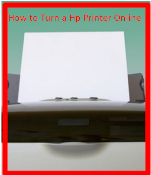 How to Turn a Hp Printer Online