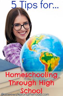Tips for homeschooling in high school