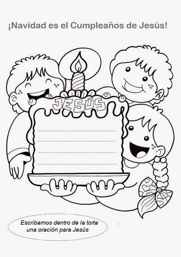 Lujoso Feliz Cumpleaños Jesús Hoja Para Colorear Friso - Ideas Para ...