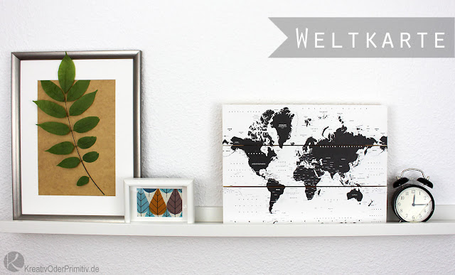Kreativ oder primitiv for Weltkarte deko