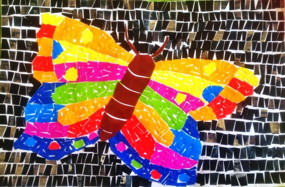 88 Koleksi Gambar Mosaik Hewan Dari Kertas Warna HD