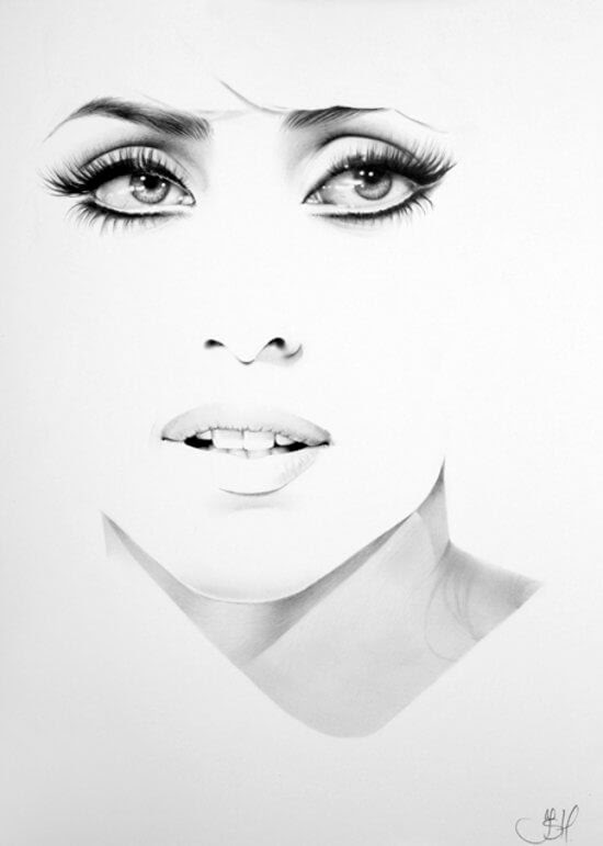 03-Lady-Gaga-Ileana-Hunter-Drawings-of-Minimalist-Realism-Meets-Celebrities-www-designstack-co
