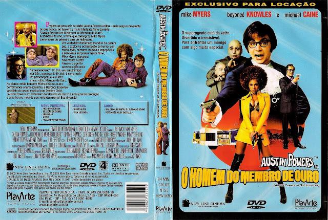 Capa DVD Austin Powers O Homem do Membro de Ouro