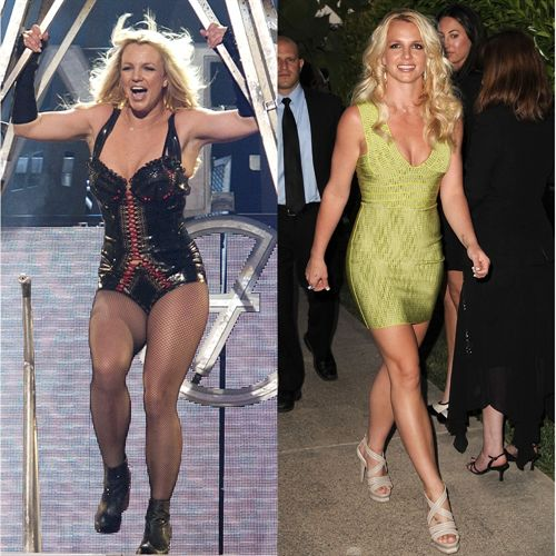 Antes y despues de bajar de peso britney