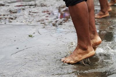 Una ciudad castigada por las lluvias