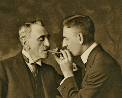 Rube Goldberg and his father