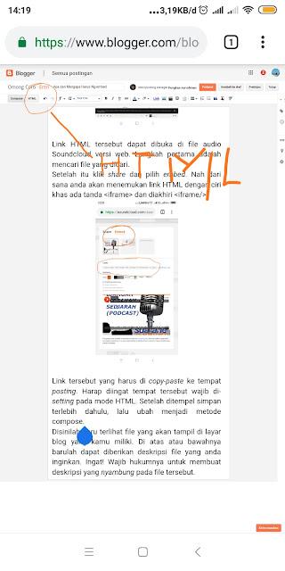 Tempat menempel kode html pada blogspot