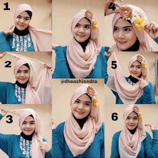 Langkah Mudah Cara Memakai Jilbab Pesta Cantik