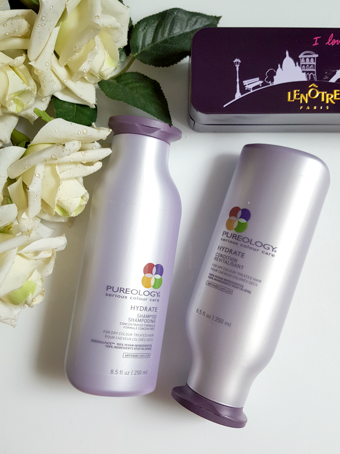 review_pureology_hydrate_shampoo_conditioner_trockenes_coloriertes_haar_madame_keke