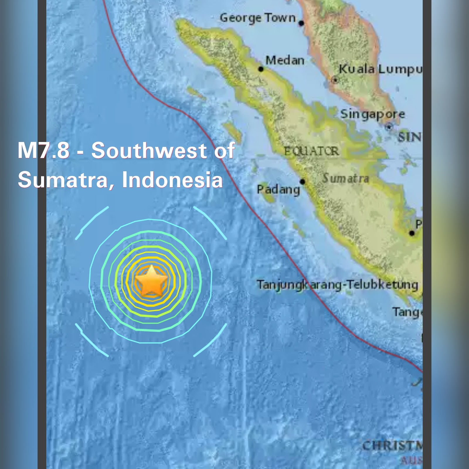 Sumatra, Indonesia earthquake