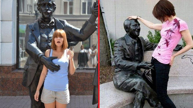 Funny Photos Of Statues