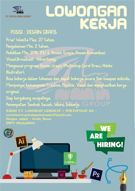 lowongan Kerja DESIGN GRAFIS Putra Boga Group