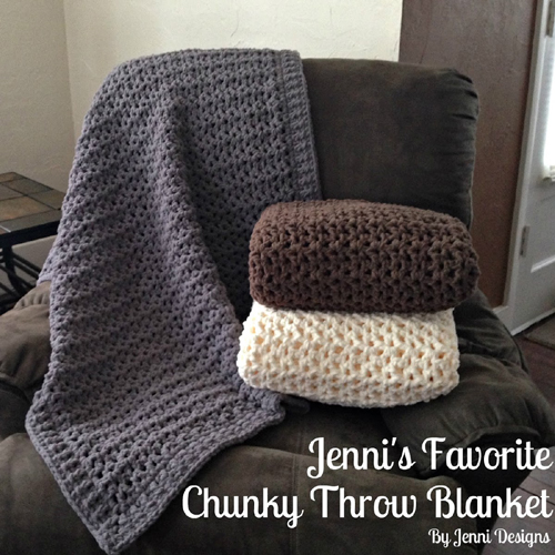 Jenni's Favorite Chunky Throw Blanket - Free Pattern