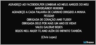 Mensagem de Aniversario para Amigos do FaceBook.