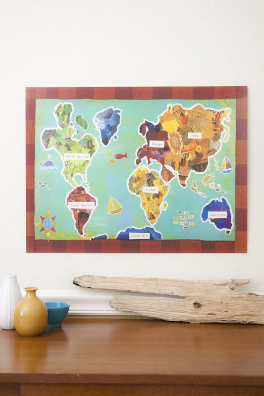Mad For Mid Century Map Posters For A Travel Themed Nursery