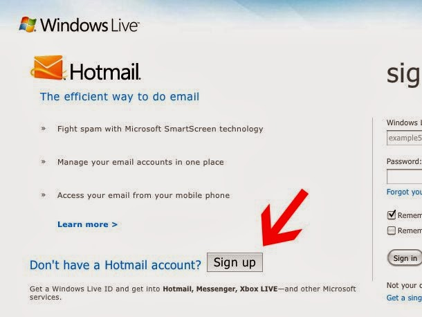 Live Hotmail Sign Up - Create a New Hotmail Email Account UK