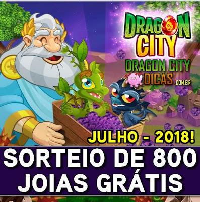 Super Sorteio de 800 Joias Grátis - Julho 2018