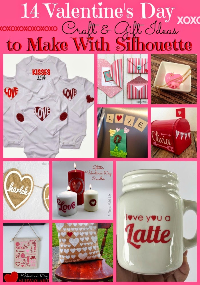 Silhouette, Silhouette project, valentine's day, project idea