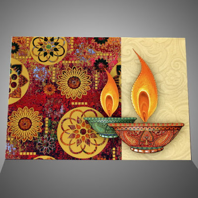 Homemade Diwali Greeting Card Pictures