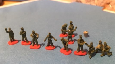 10mm Tank Mechanics, Luftwaffe Ground Crews from Arrowhead Miniatures