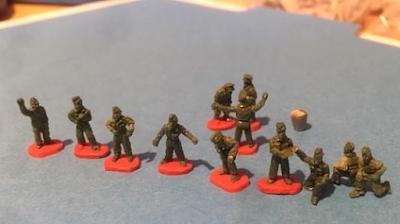 10mm Tank Mechanics, Luftwaffe Ground Crews from Arrowhead Miniatures