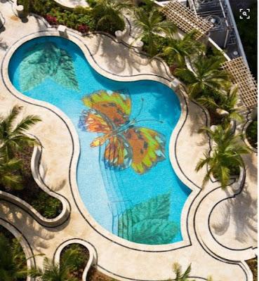 3D epoxy flooring for swimming pools
